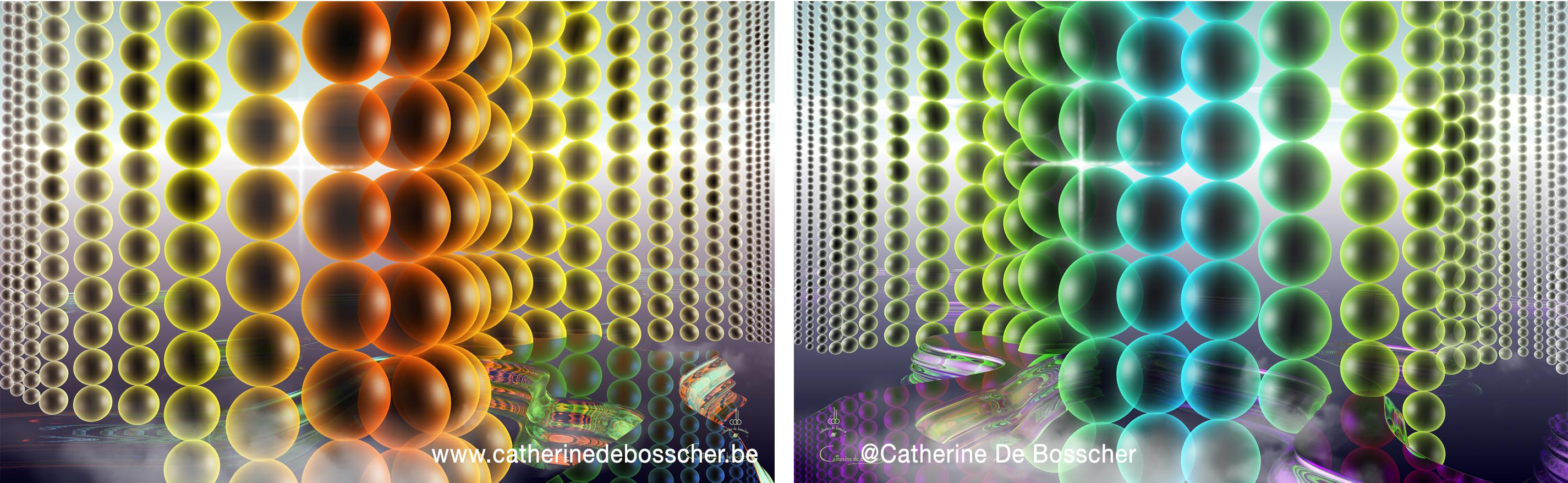 CASCADE PERLEE I et II  by Catherine De Bosscher