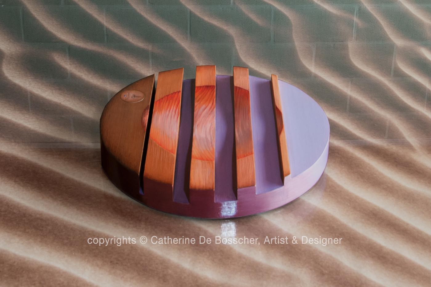 "Sculptural Bowl ""Aube"" by Catherine De Bosscher"