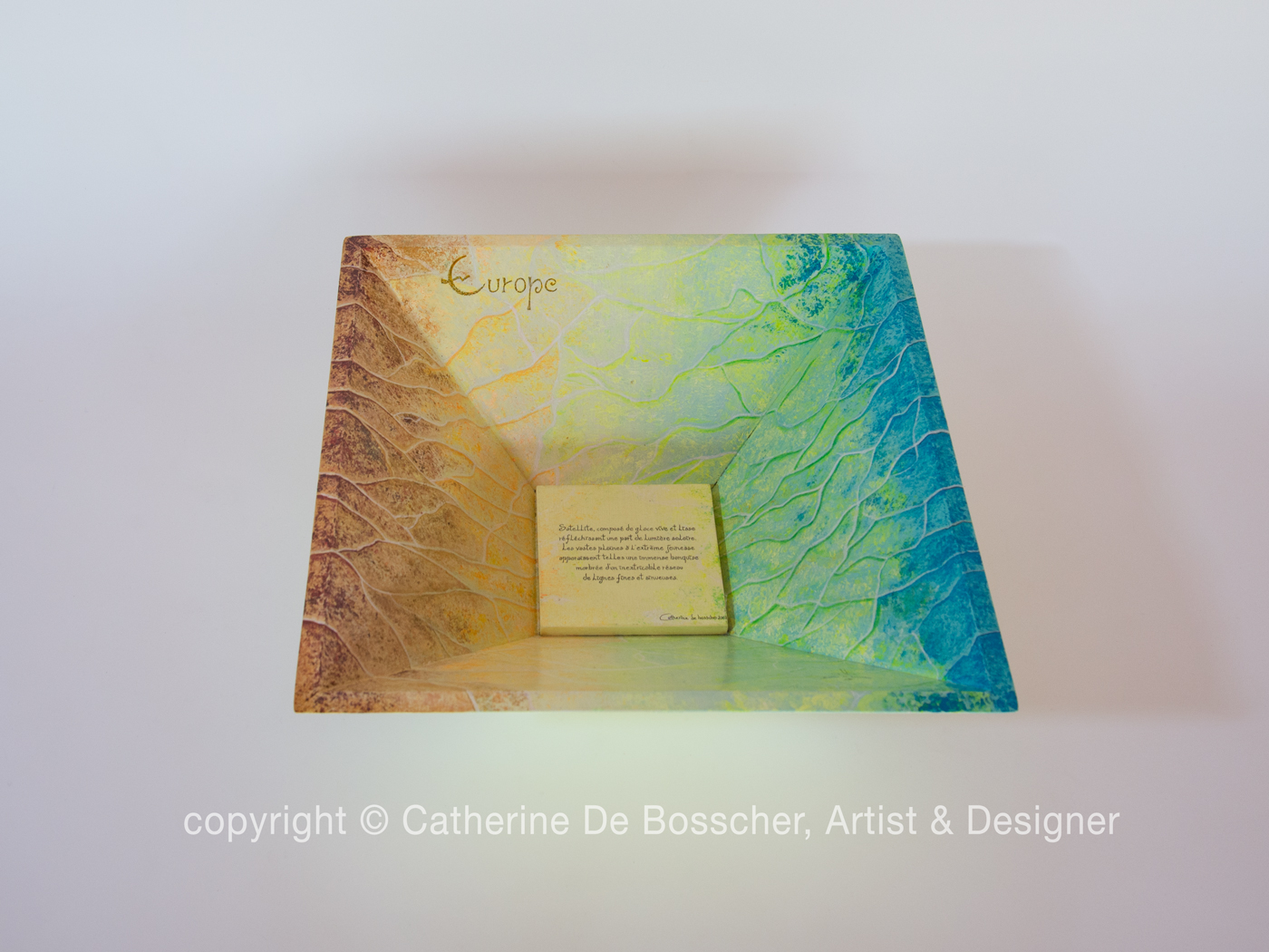 """Satellite Europa"" Pyramidal Bowl by Catherine De Bosscher"