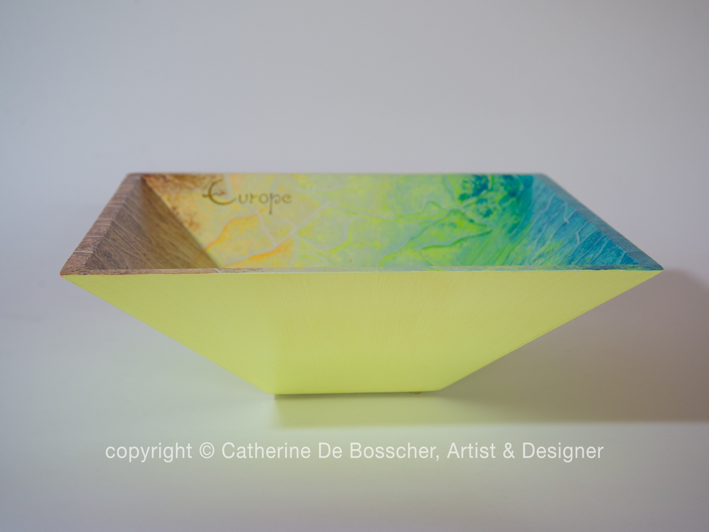 """Satellite Europa"" Pyramidal Bowl by Catherine De Bosscher"