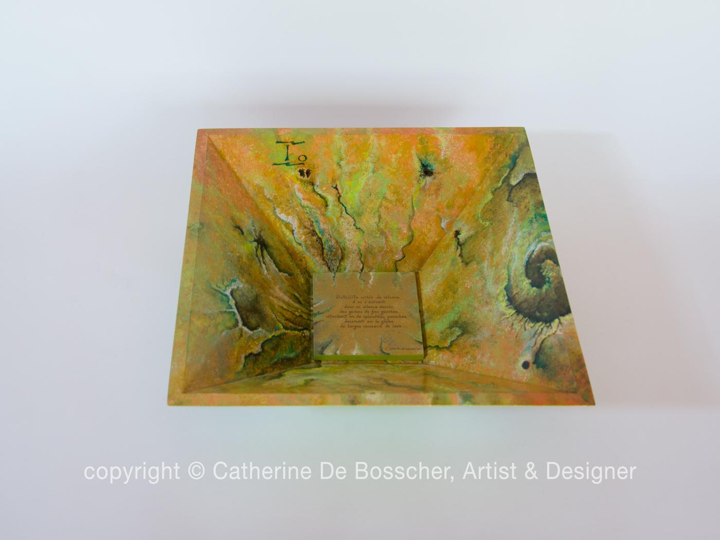 """Satellite IO"" Pyramidal Bowl by Catherine De Bosscher"
