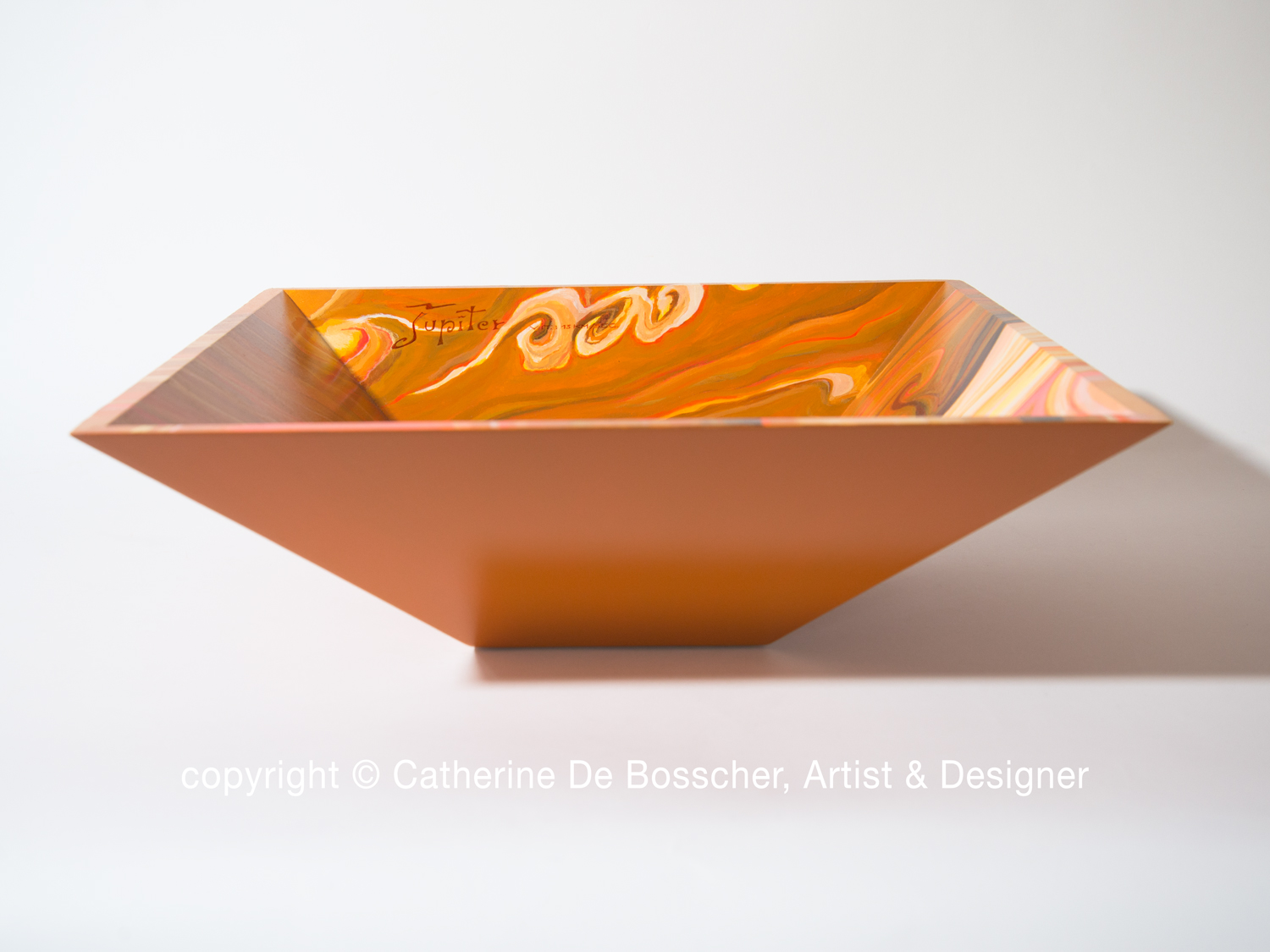 """Planète Jupiter"" Pyramidal Bowl by Catherine De Bosscher"