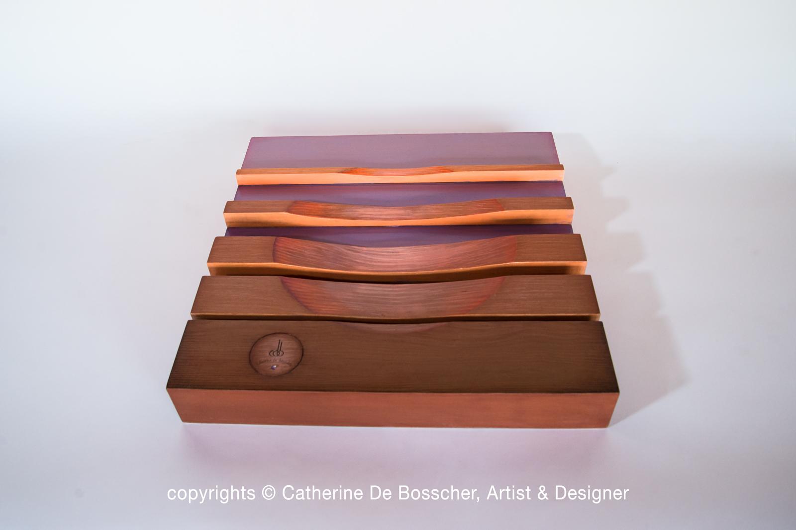 "Sculptural bowl ""Lueur"" by Catherine De Bosscher"