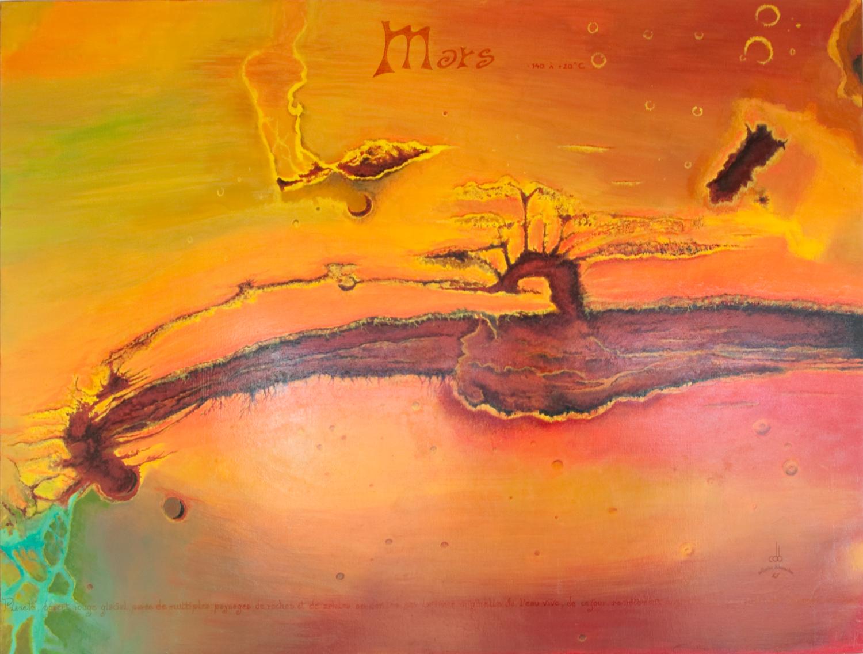 """""""Planète Mars"""" Painting by Catherine De Bosscher"""