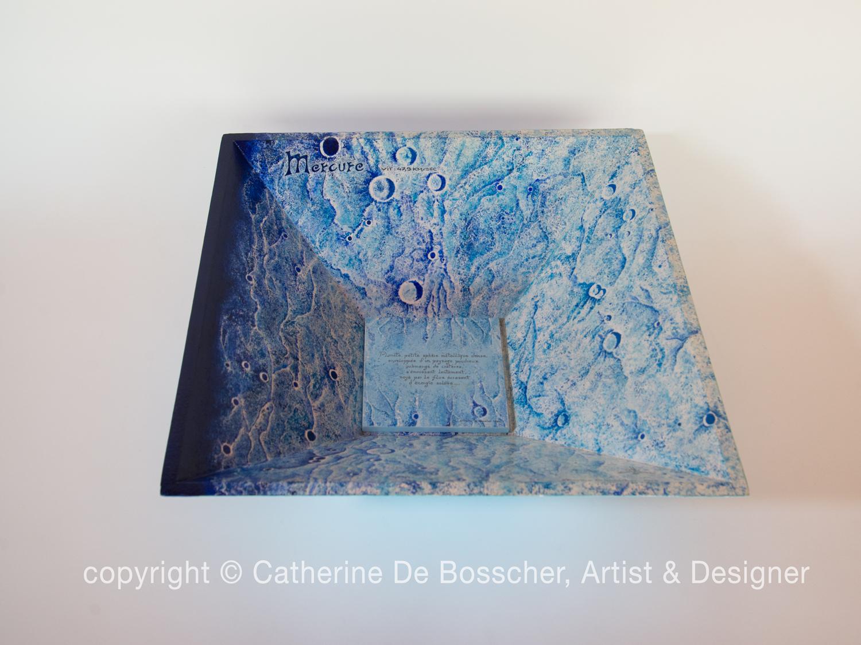 """""""Planète Mercure"""" Pyramidal Bowl by Catherine De Bosscher"""