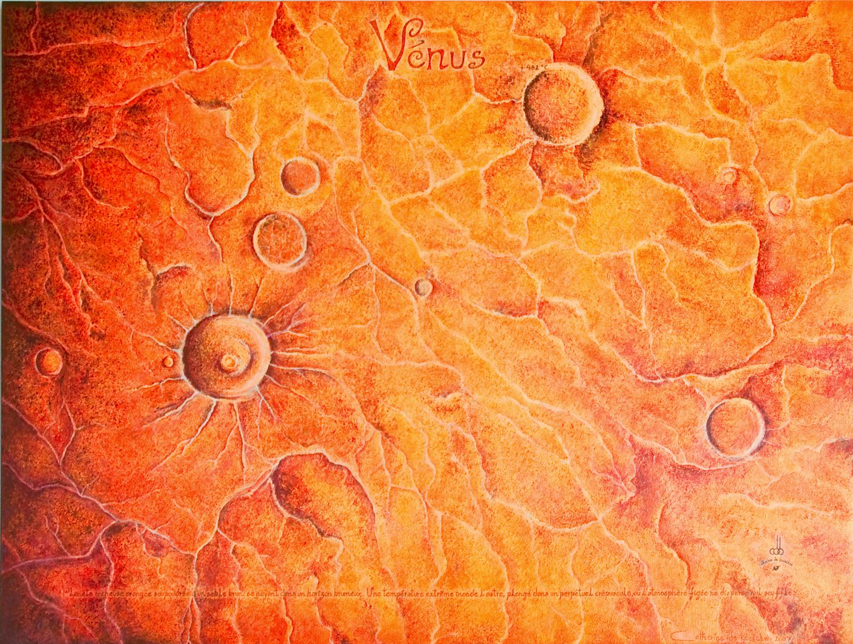 """""""Planète Venus"""" Painting by Catherine De Bosscher"""