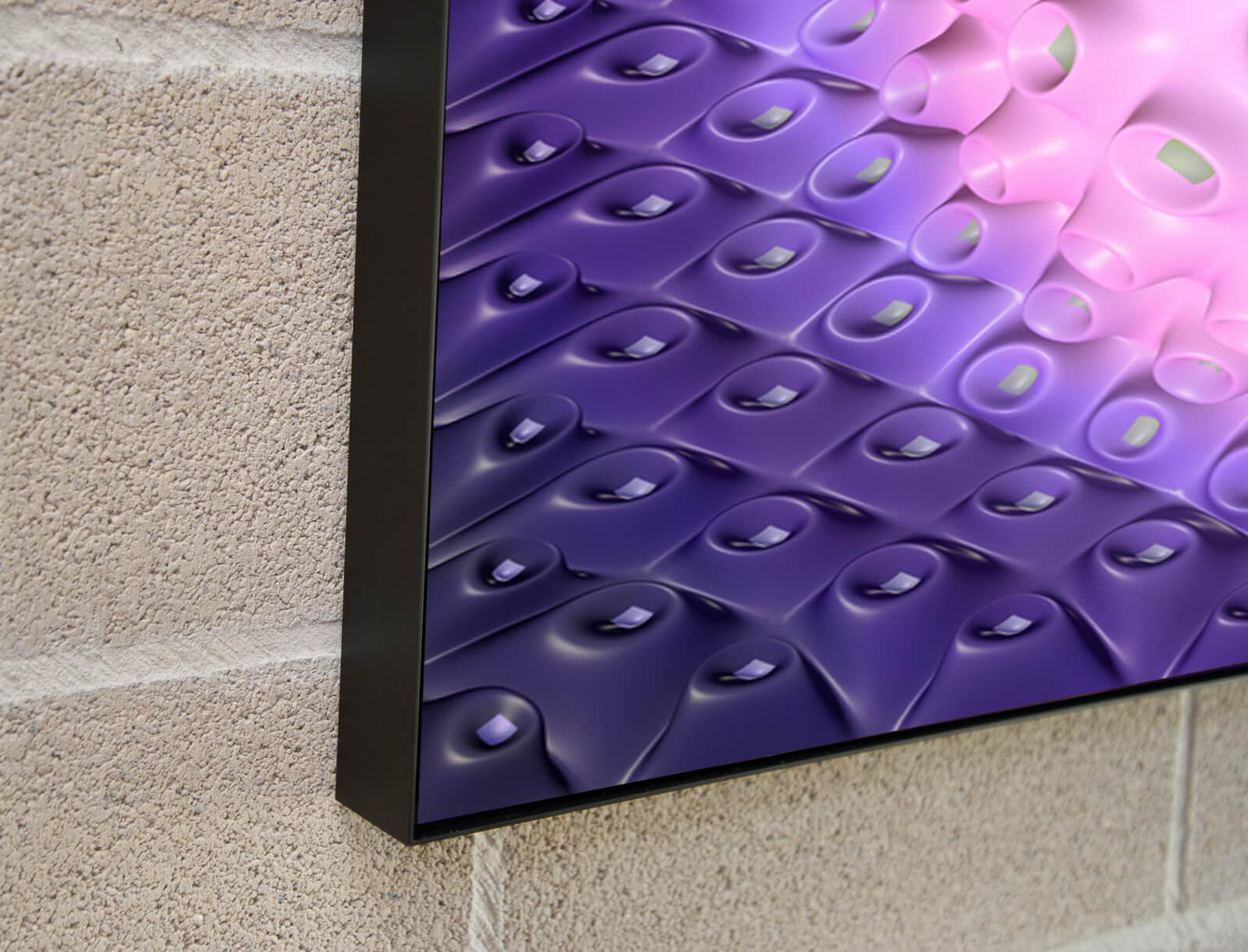 Detail Black Aluminium Art Box frame 5 cm