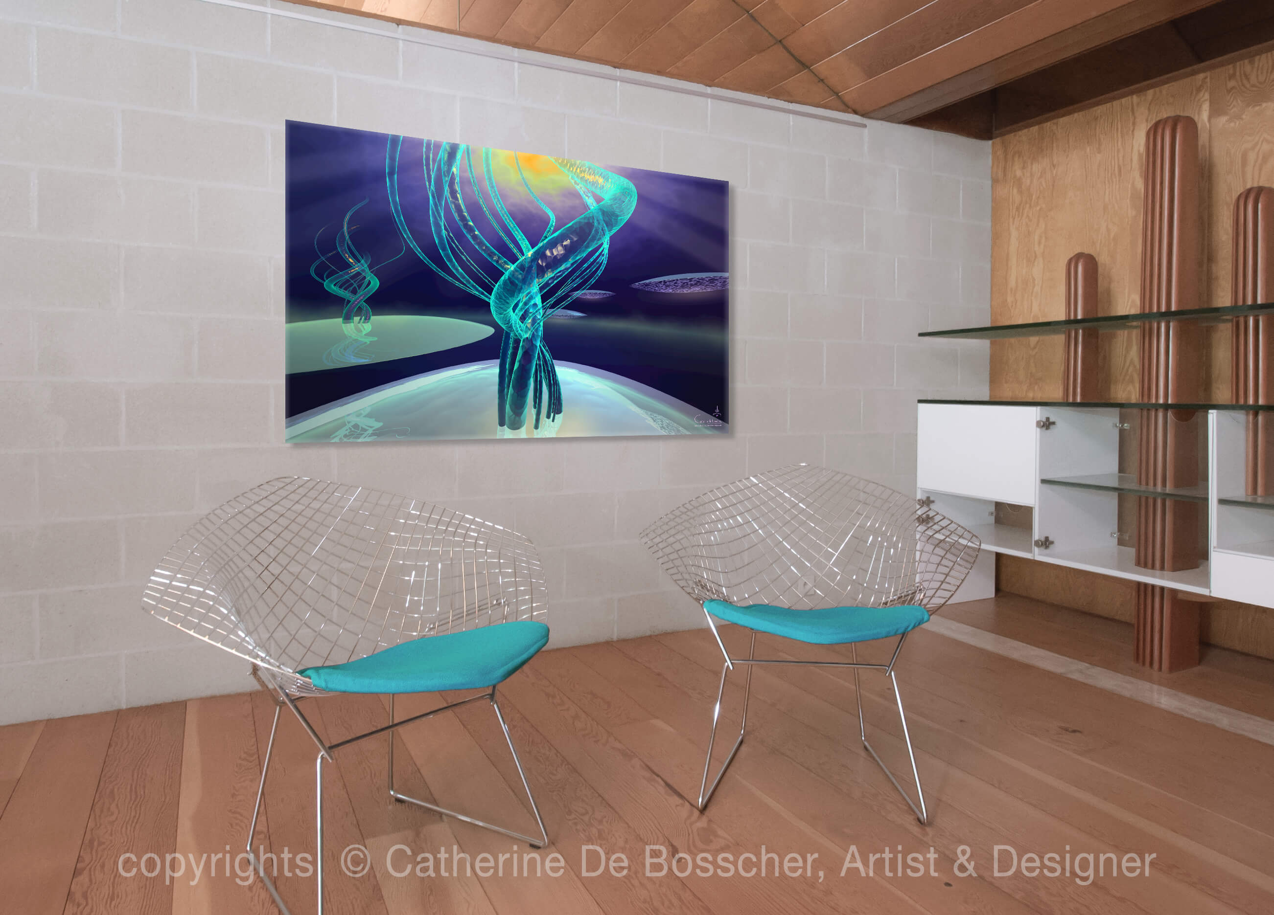 EXOGENESE Artwork 159 x 100 cm by Catherine De Bosscher