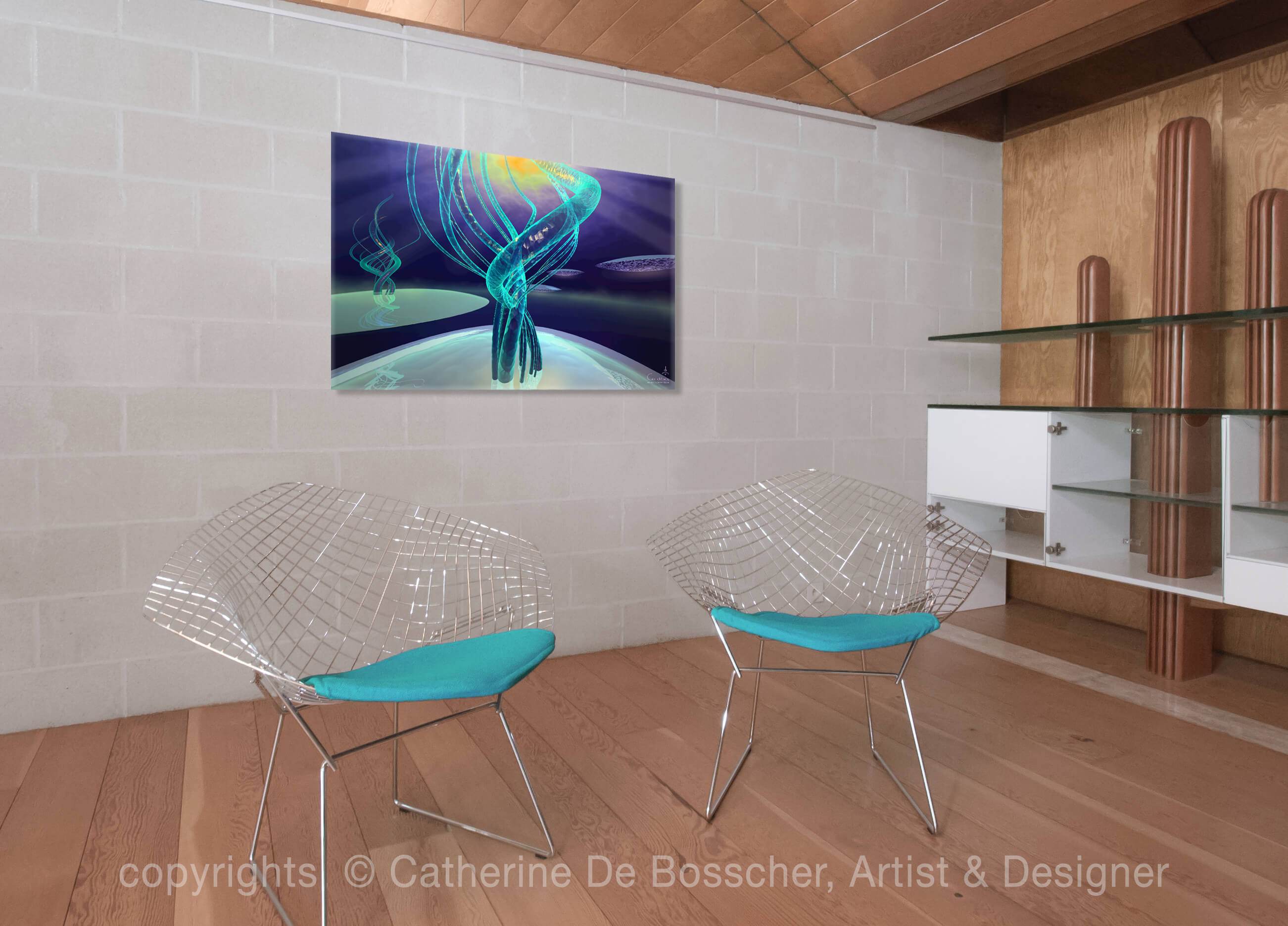 EXOGENESE Artwork  127 x 80 cm by Catherine De Bosscher