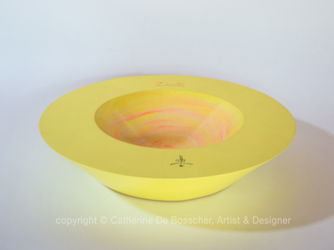 "Sculptural Bowl ""Zenith"" by Catherine De Bosscher"