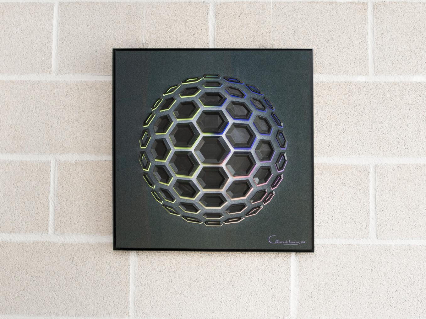 """Wall-Sculpture """"Black Matter 51"""" by Catherine De Bosscher"""