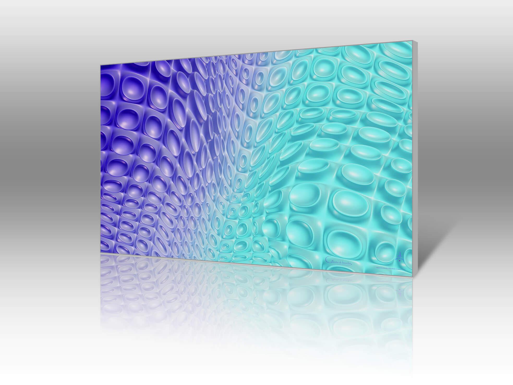 """Aqua Magic 2"" 83x50 cm or 143x86 cm by Catherine De Bosscher"