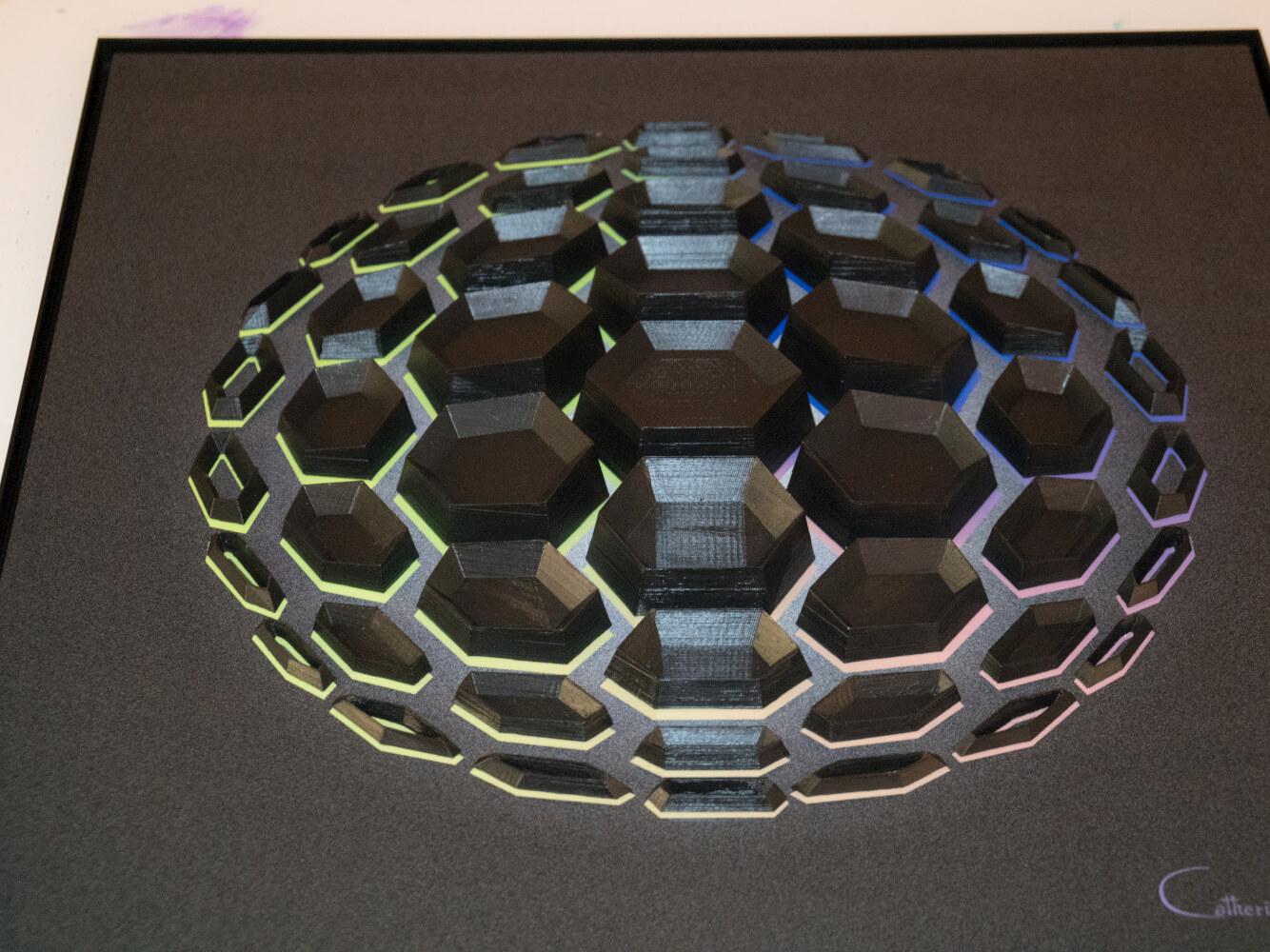 """Detail 1 of """"Black Matter 51"""""""