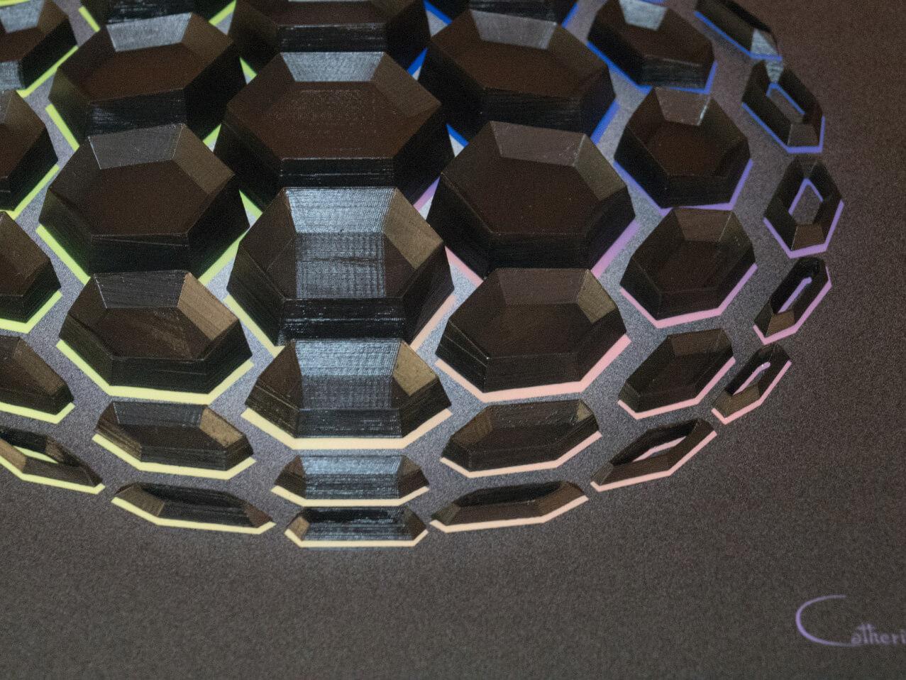 """Detail 2 of """"Black Matter 51"""""""