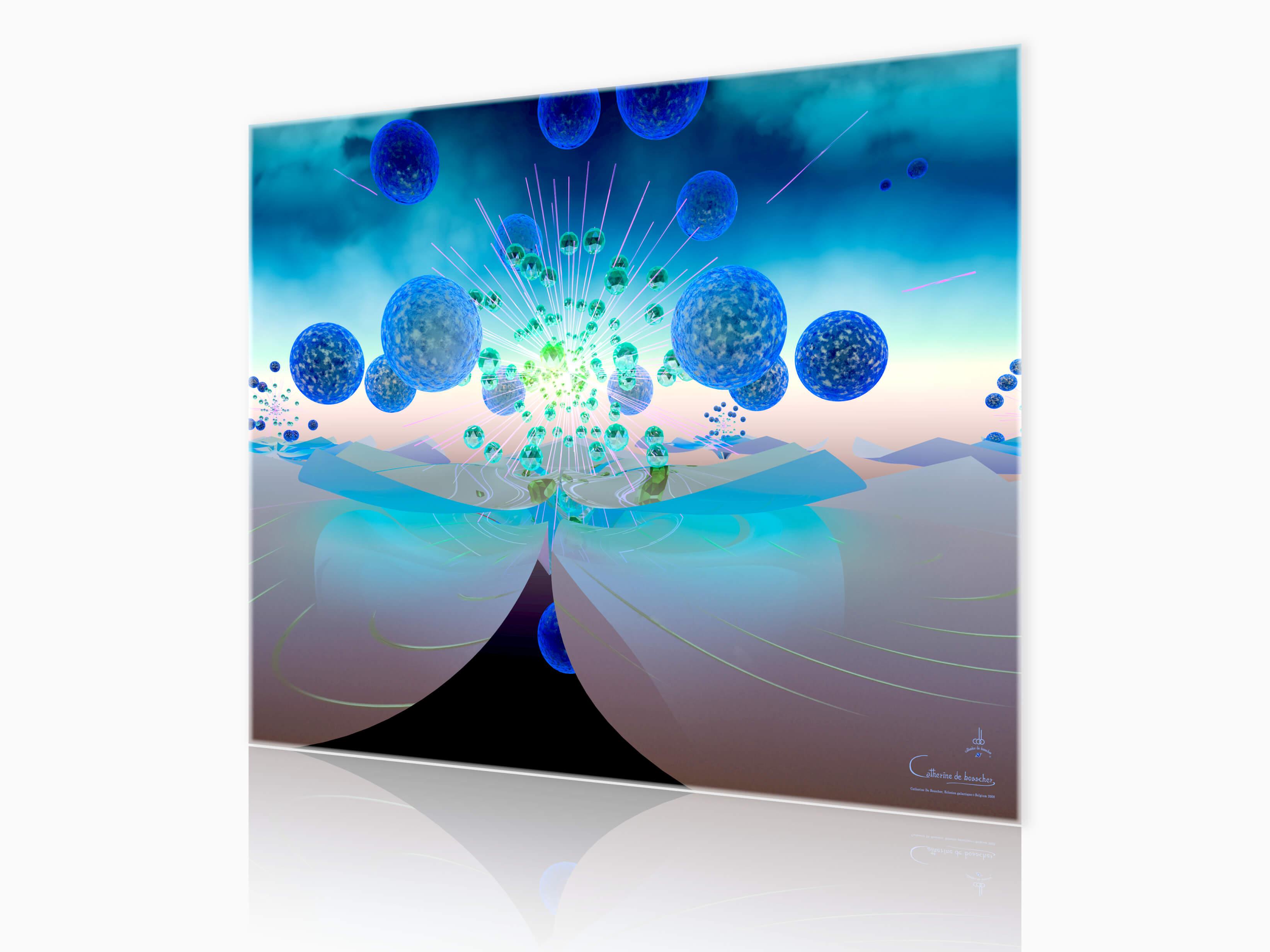 """""""Eclosion Galactique"""" 150x120 cm by Catherine De Bosscher"""
