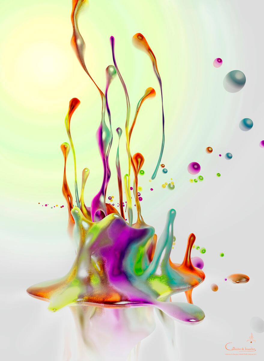 """""""Color Flow"""" 82x112 cm/ 32.3 x 44.1"""" by Catherine De Bosscher"""