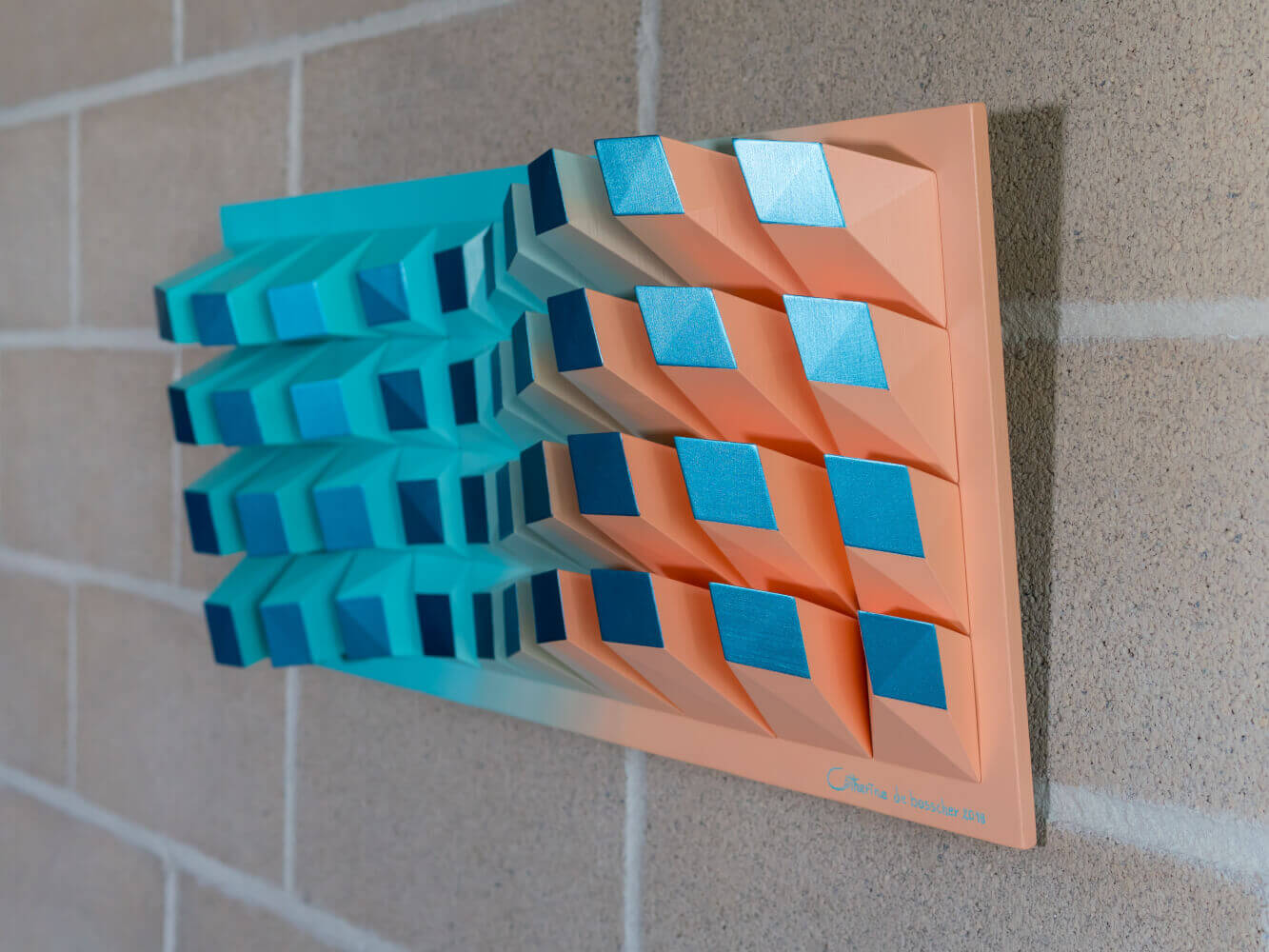'Matrix 040' Wall Sculpture 31x69x8,5 cm