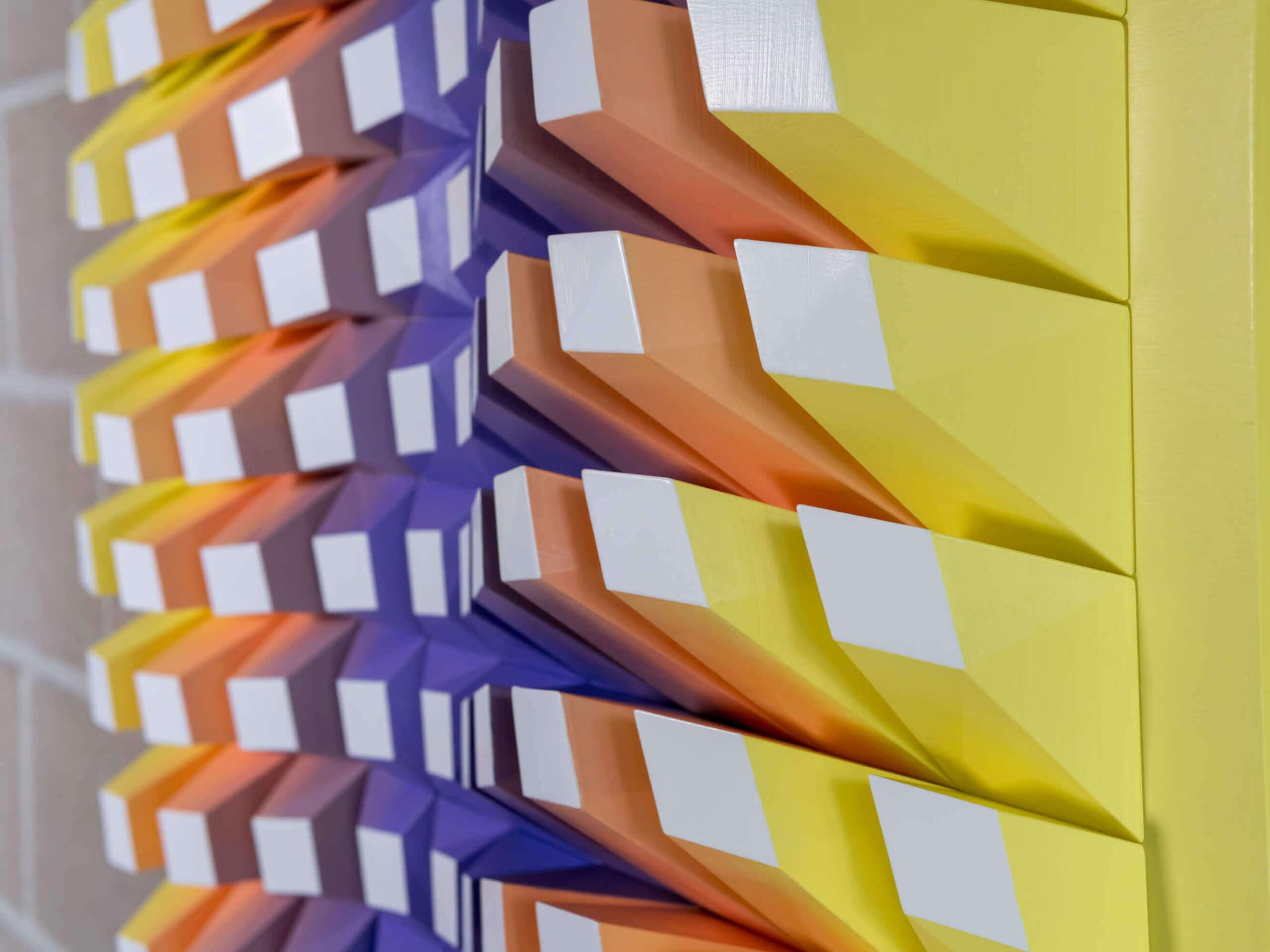 Detail of 'Matrix of Life 100' Wall Sculpture 72x72x8,5 cm/ 28.3x28.3x3.3 inch.