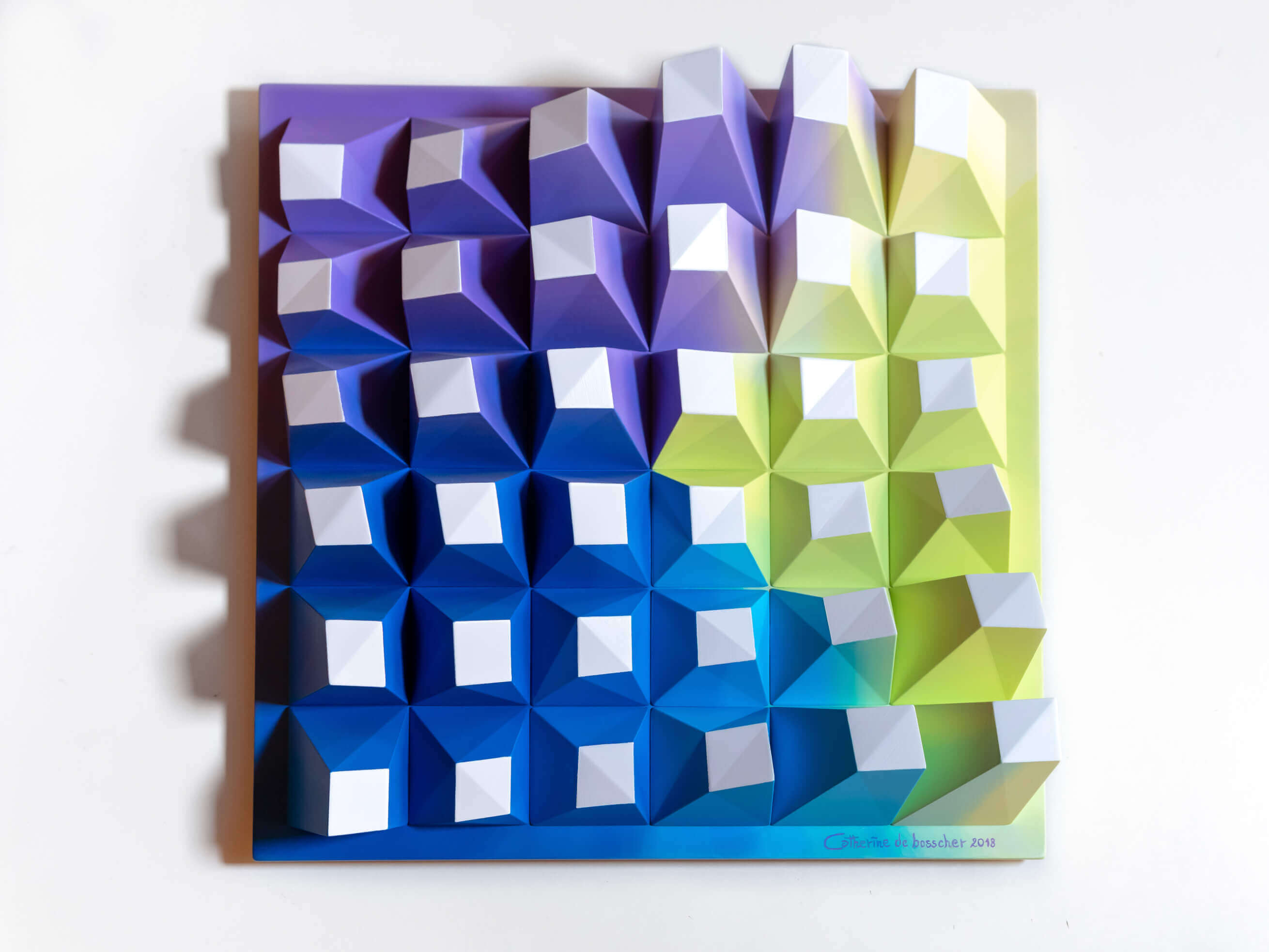 'Matrix 036' Wall Sculpture 40x40x8 cm