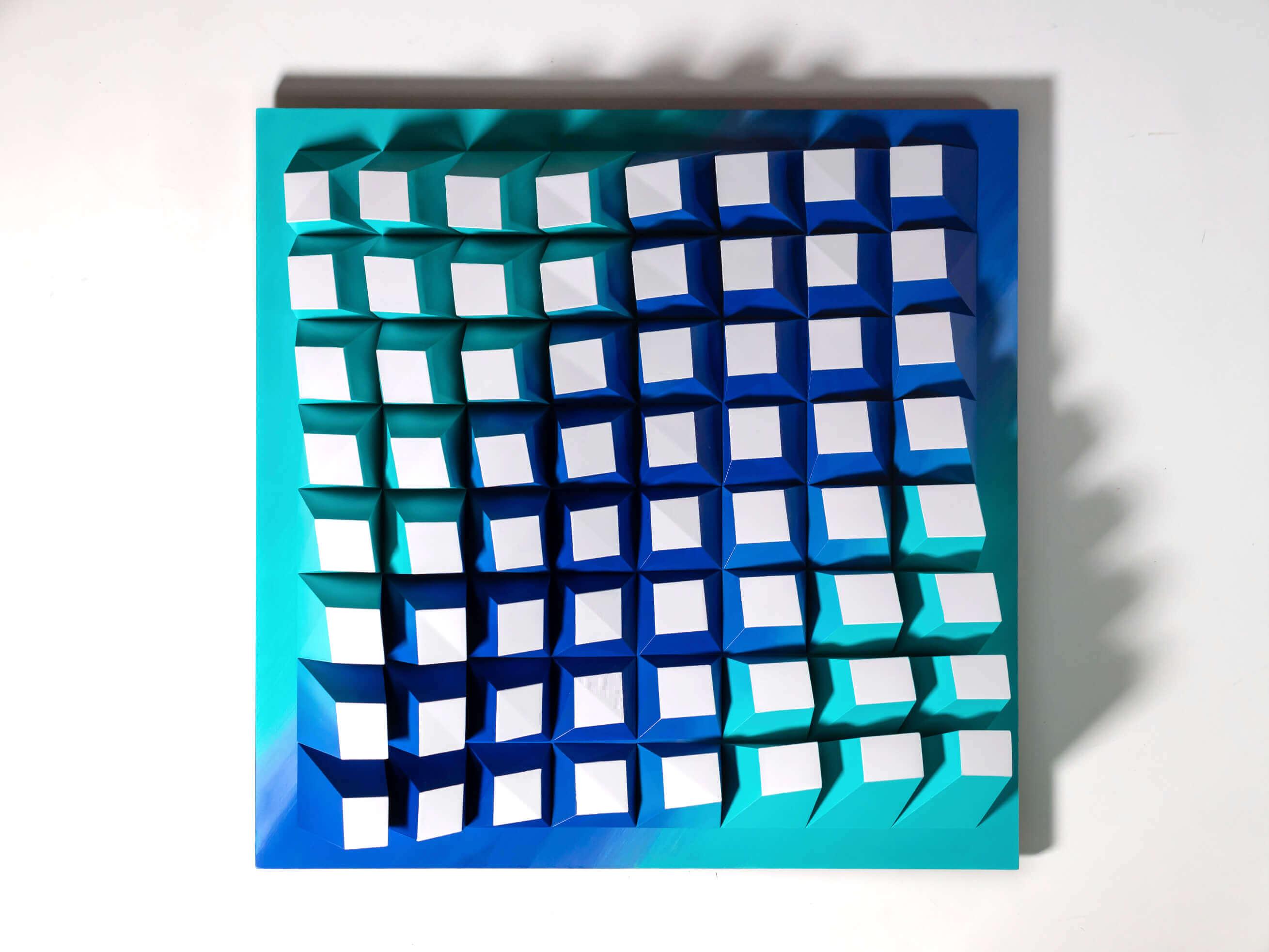 'Matrix 064' Wall Sculpture 50x50x6,5 cm