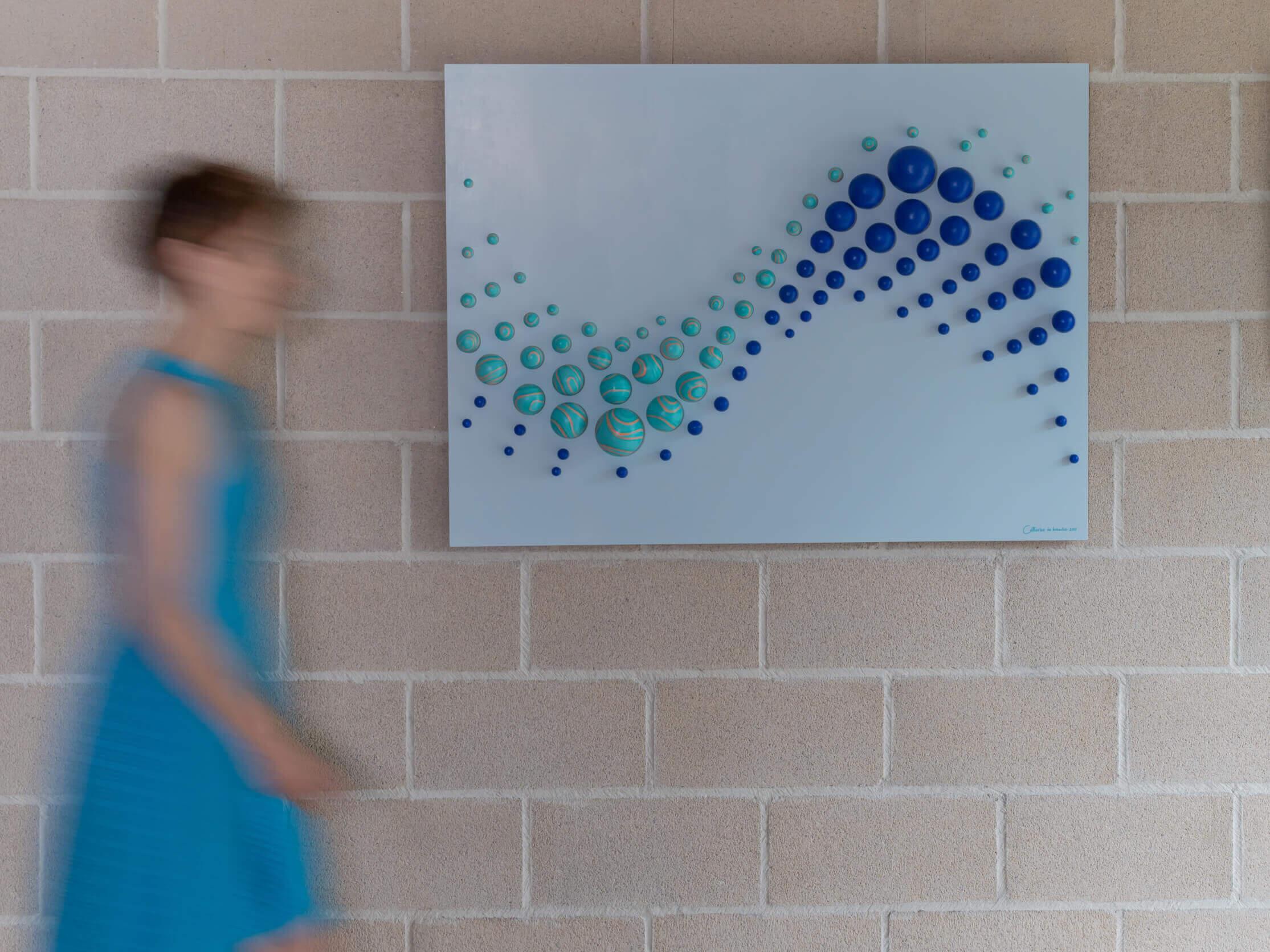 """""""Twin Lines"""" Wall Sculpture 107x80x10 cm/ 42.1x31.5x3.9 inch."""
