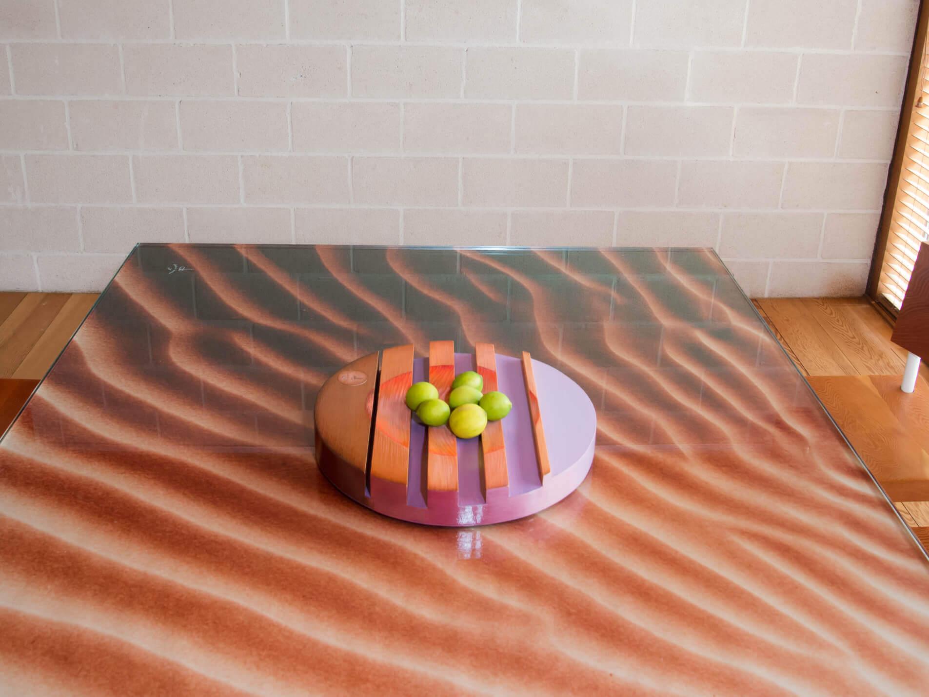 """Sculptural bowl """"Aube"""" 44 x6cm. Unique Piece."""
