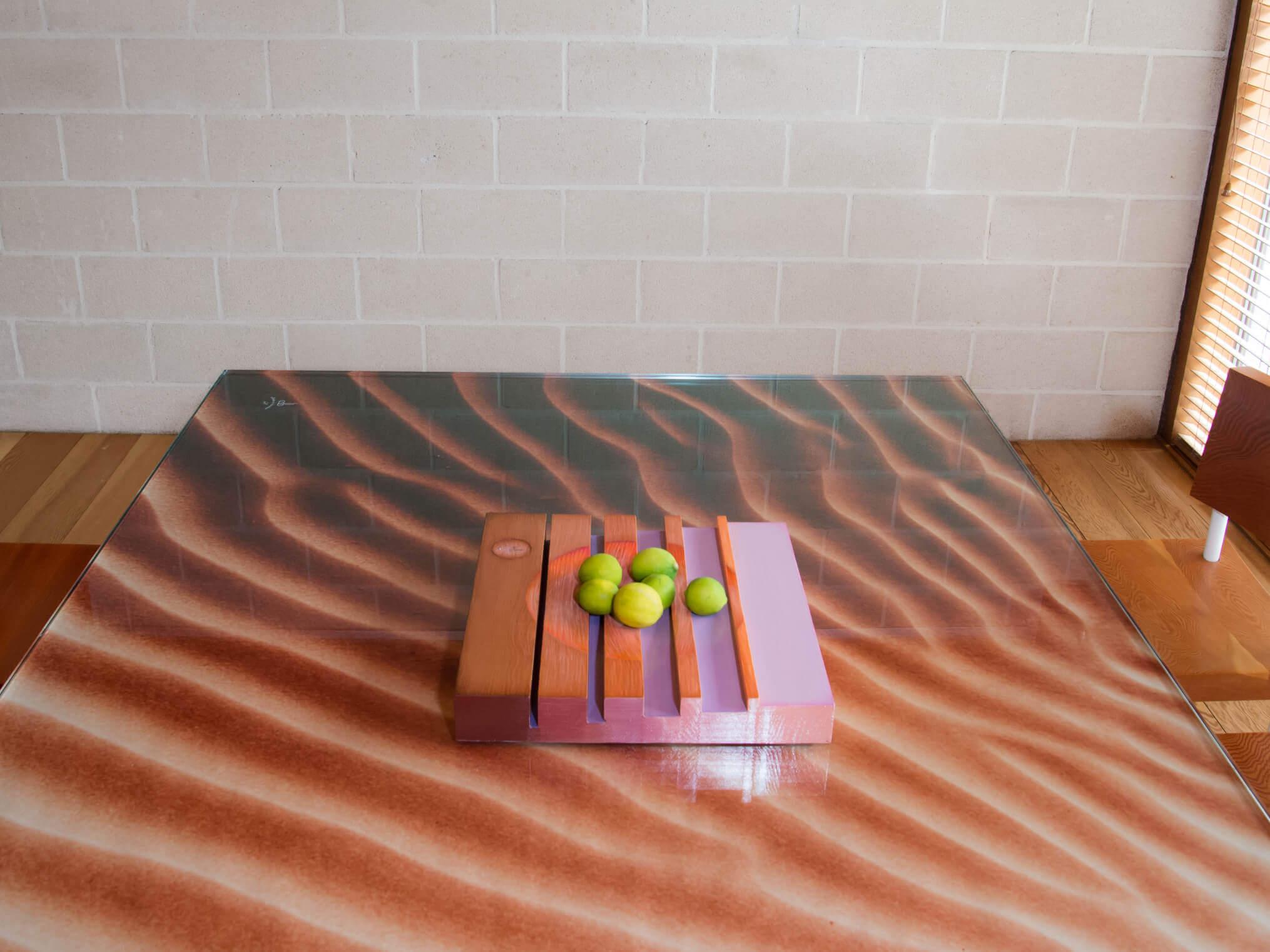 """Sculptural bowl """"Lueur"""" 40 x 40x 6cm. Unique Piece."""