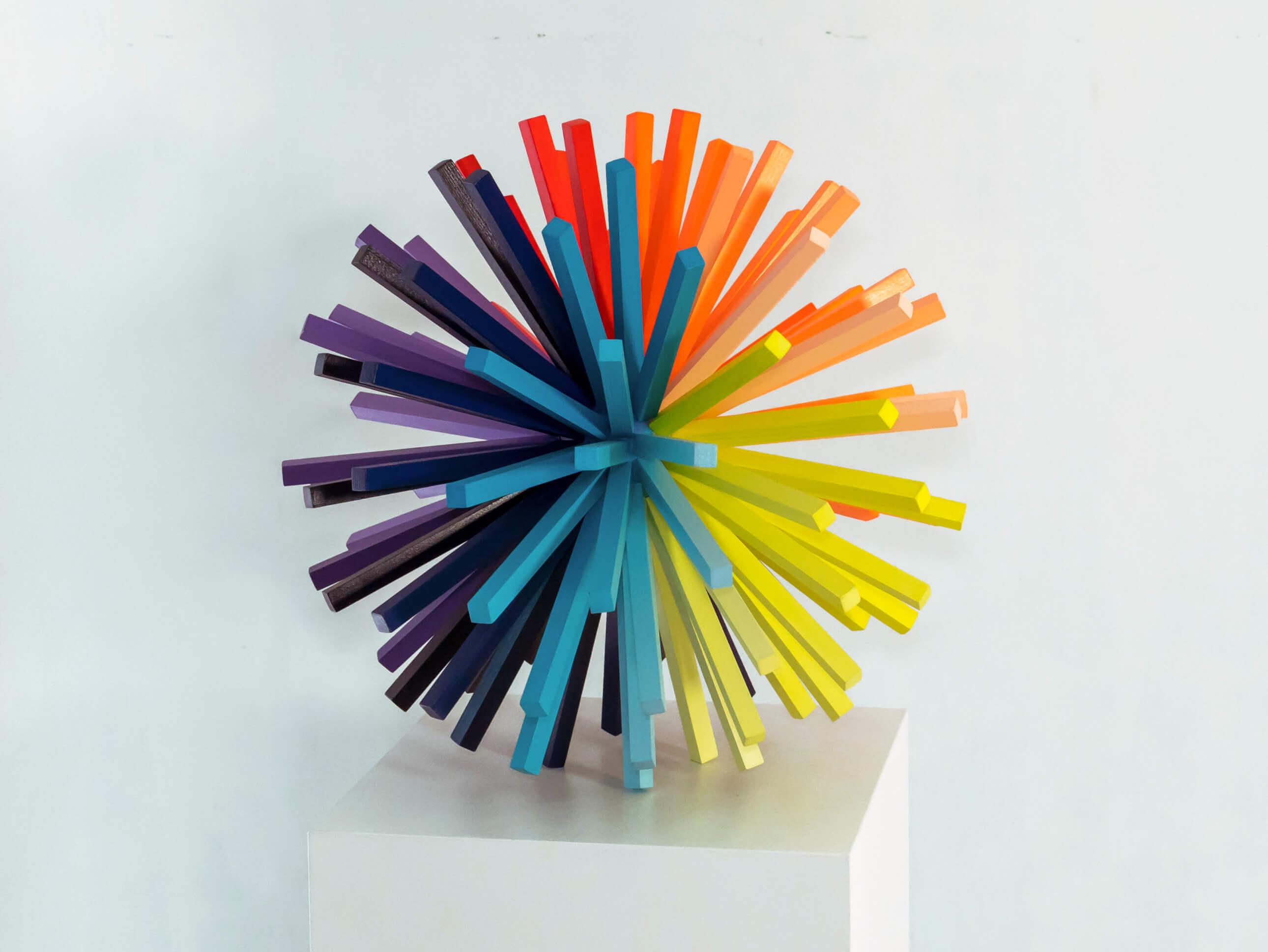 """""""Arcosphère"""" Sculpture - 40 cm / 15.7 inch"""