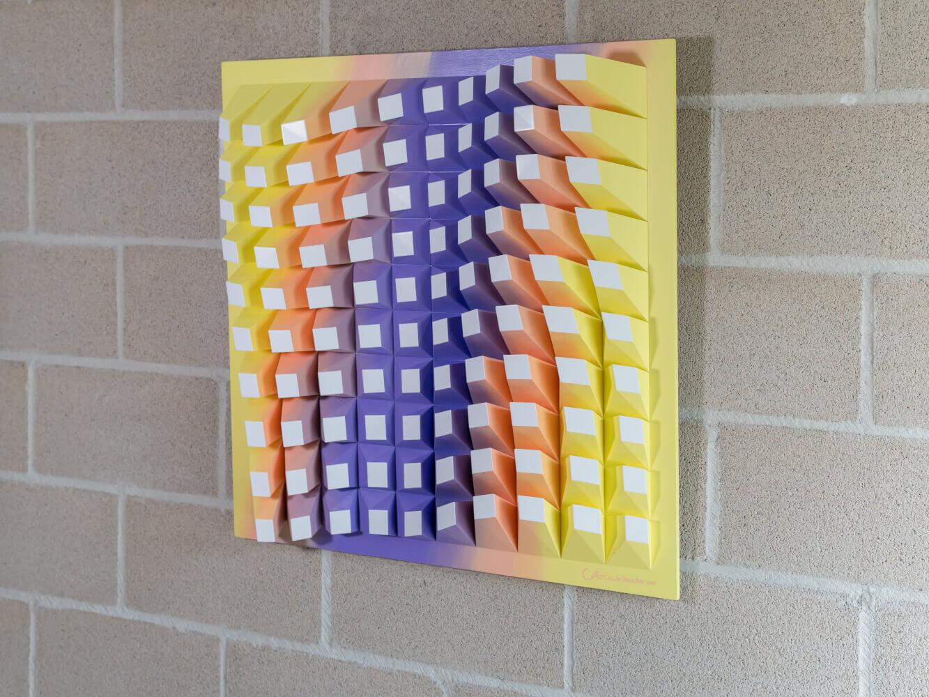 'Matrix of Life 100' Wall Sculpture 72x72x8,5 cm/ 28.3x28.3x3.3 inch.