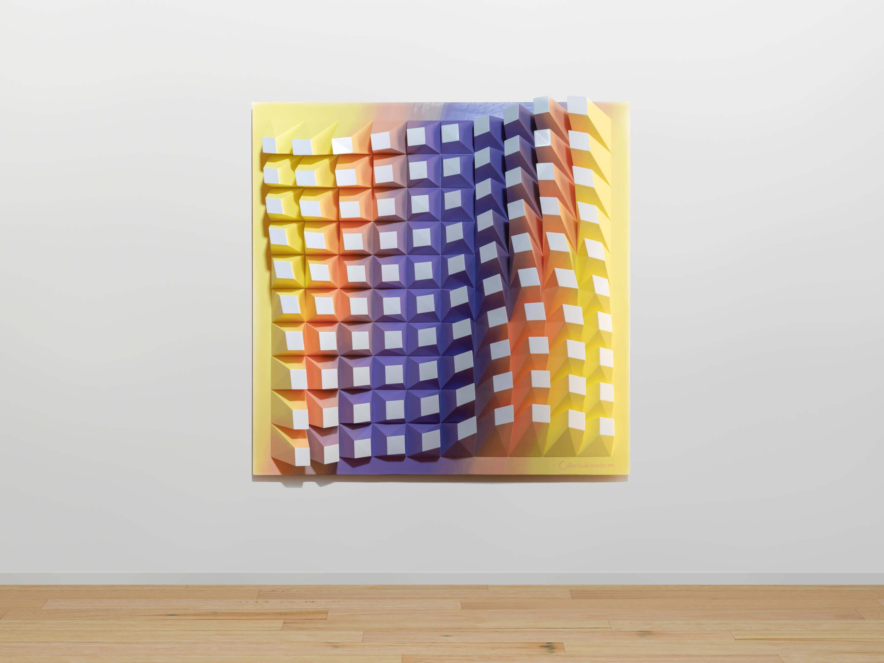 "'Matrix of Life 100' Wall Sculpture 72x72x8.5 cm/ 28.3x28.3x3.3"""