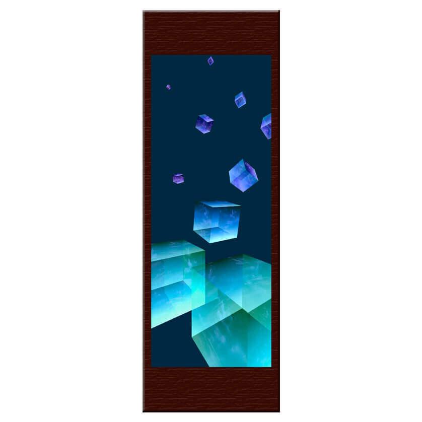 """Cubes célestes. Face1. Double sided. 29x84cm/11.4x33.1"""""""
