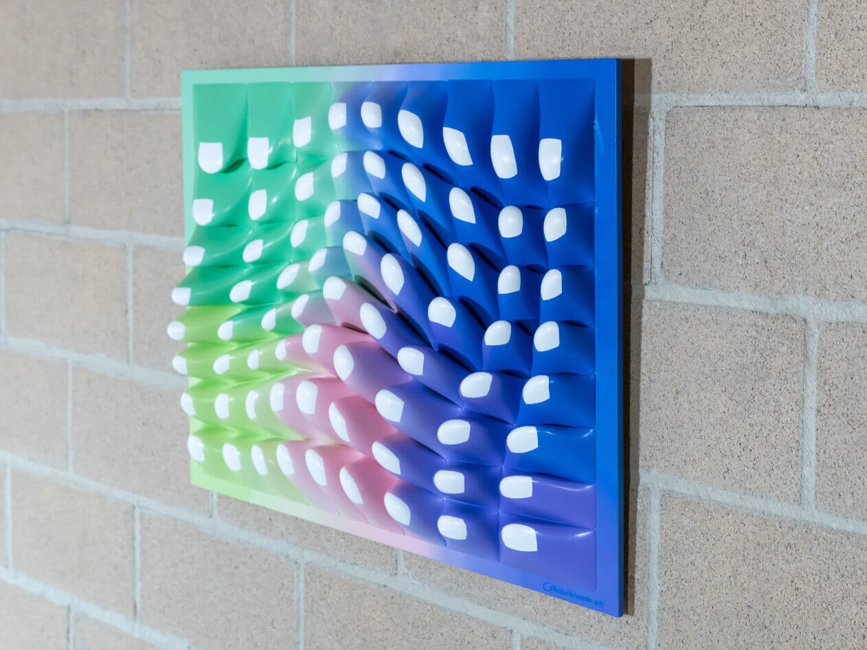 """CellGrowth 72""  Wall Sculpture 80x60x10,5 cm/ 23.6x31.5x4.1 inch."