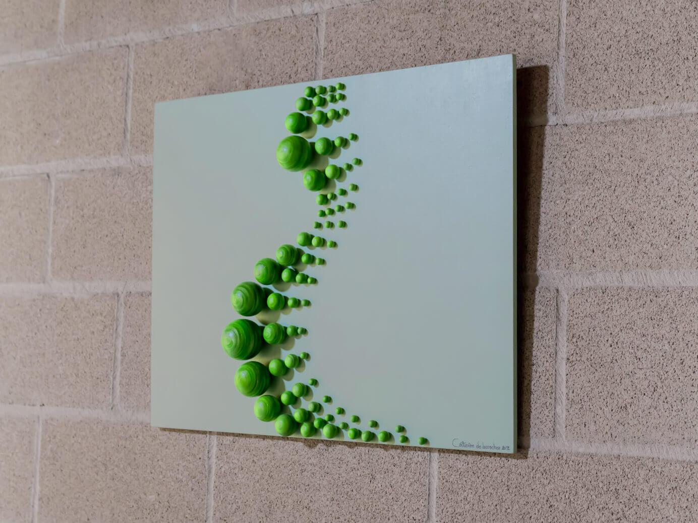 """GREEN CURVE 65x50x8 cm/ 25.6x19.7x3.1"""""""