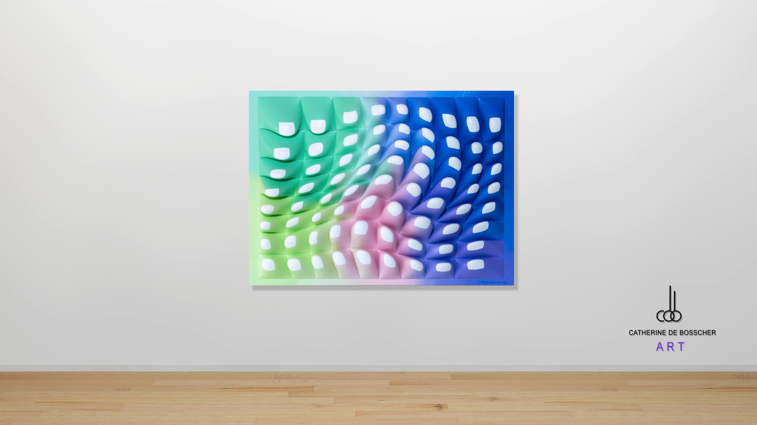"""CellGrowth72"" Wall Sculpture 60 x 80 x 10,5 cm  / 23.6x31.5x4.1 inch"