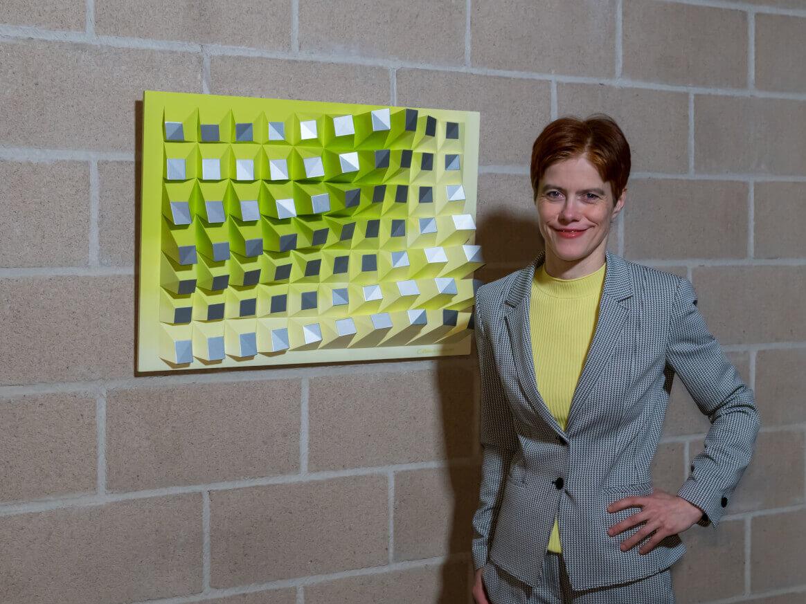 'Matrix of Life 070' Wall Sculpture 50x75x8,5 cm/ 19.7x29.5x3.3 inch.
