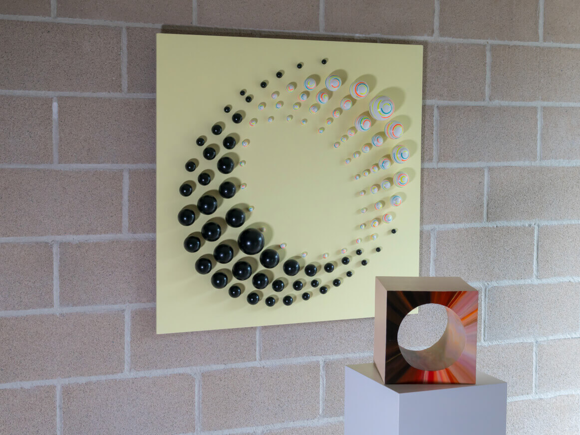 """""""Whirlwind"""" Wall Sculpture + """"Magma Cube"""" Sculpture"""